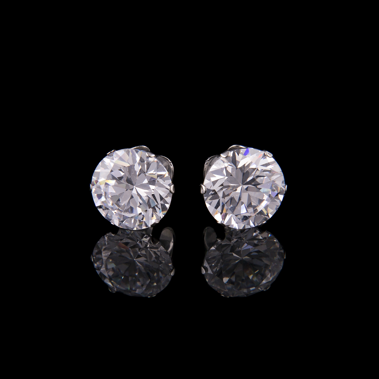 Mad Ally Diamante Earrings 10mm