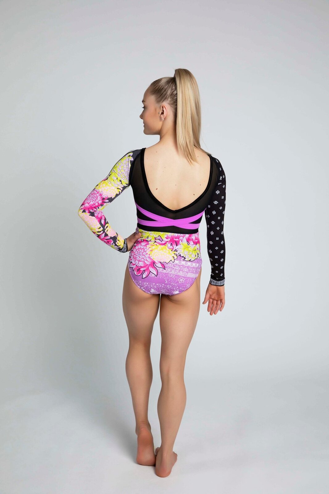 Sylvia P Eastern Bloom Long Sleeve Leotard