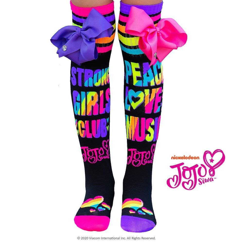 Madmia JoJo Peace Love Music Socks