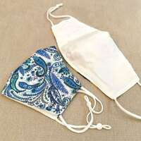 Reusable Face Mask Blue Paisley