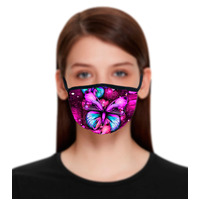 Face Mask Purple Butterfly