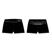 Mad Ally Dance Shorts Black/Purple