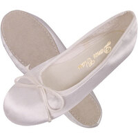 White Dyeable Satin Ballet Shoes Full Sole Child