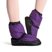 Bloch Purple & Black Warm Up Bootie Adult