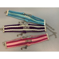 Leather Charm Bracelet Cheer