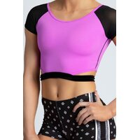 Sylvia P City Lights Cropped Top