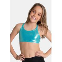 Sylvia P Hawaiian Mint Mystique Crop Top