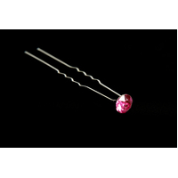 Mad Ally Diamante Bun Pin- Pink