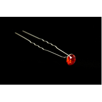 Mad Ally Diamante Bun Pin- Red