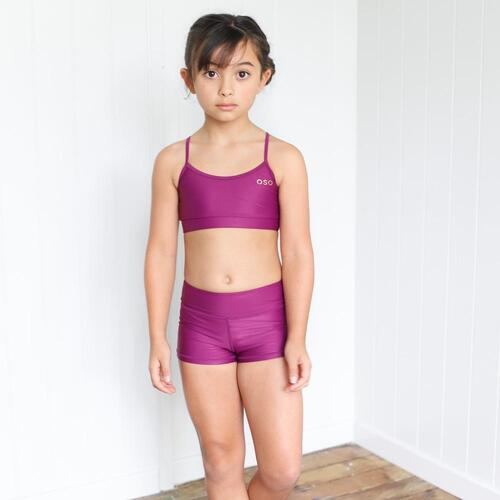 Chasing OSO Mulberry Haze Crop Child Size; 4