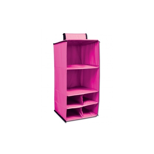 Pink Dream Duffel Hanging Shelf Shoe Caddy; Solid Colour