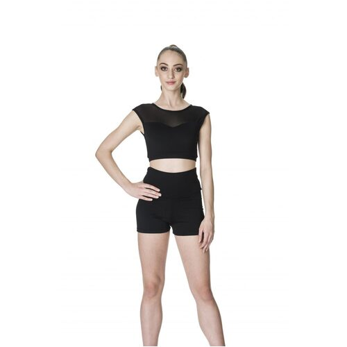 Studio 7 Activate Crop Top Adult Large; Black