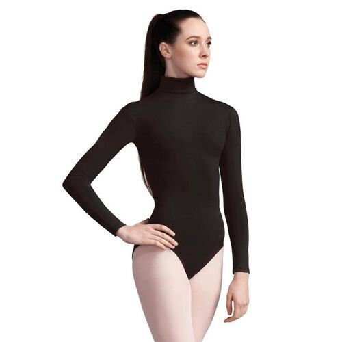 Capezio Turtleneck Long Sleeve Leotard Adult [Colour: Black] [Size: Adult Large]